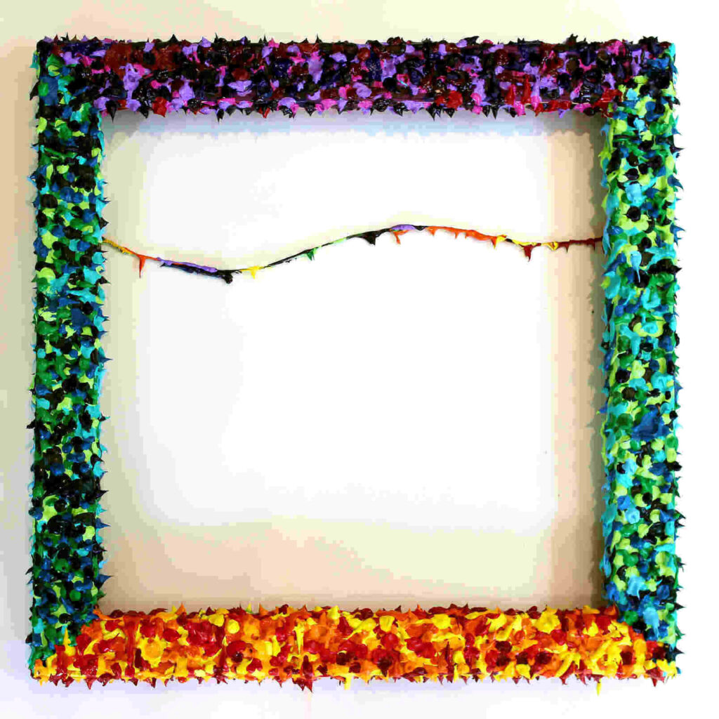 Home.fit frame-of-bloody-paint-2017-acylic-on-wooden-frame-1024x1024 Being, burdens and approaching things head-on